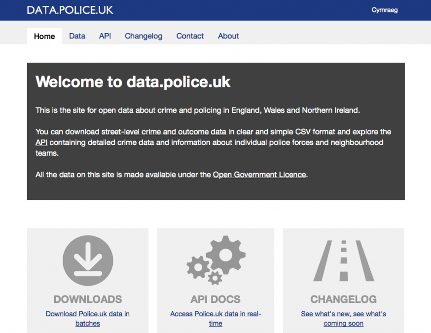 Data from Police.uk