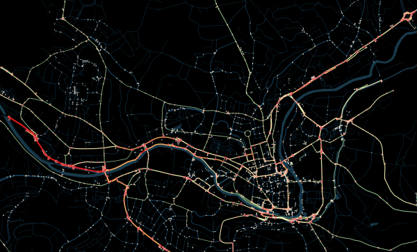 Visualisation of roads and cycleways that are heavily used by cyclists. Read on for more details.